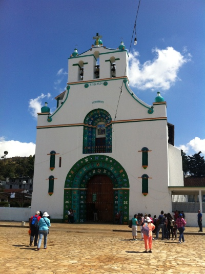 A simple and beautiful looking church on the outside, San Juan Chamula Cathedral's inside is a totally different story