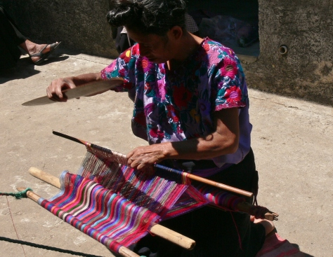 The art of weaving by a local from Zinacantan